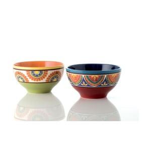 Sada 2 barevných keramických misek Brandani, ⌀ 17 cm