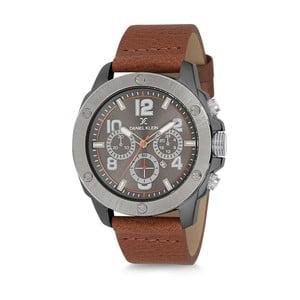 Pánské hodinky s hnědým koženým řemínkem Daniel Klein Sorbetto