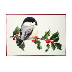 Vánoční prostírání s ptáčkem Christmas