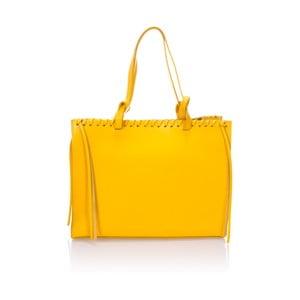 Žlutá kožená kabelka Giulia Massari Premia