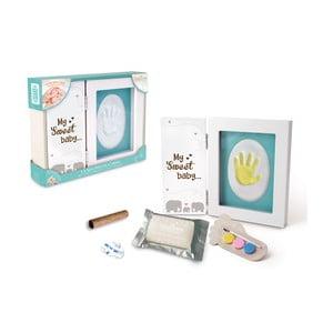 Rámeček na otisk dětské ručičky s barvami Tnet My Sweet Baby, 21x17x2cm