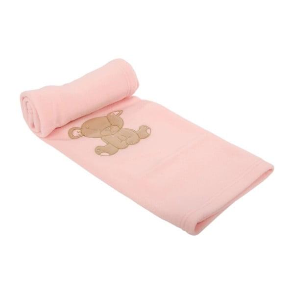 Dětská deka Ourson Rose, 100x150 cm