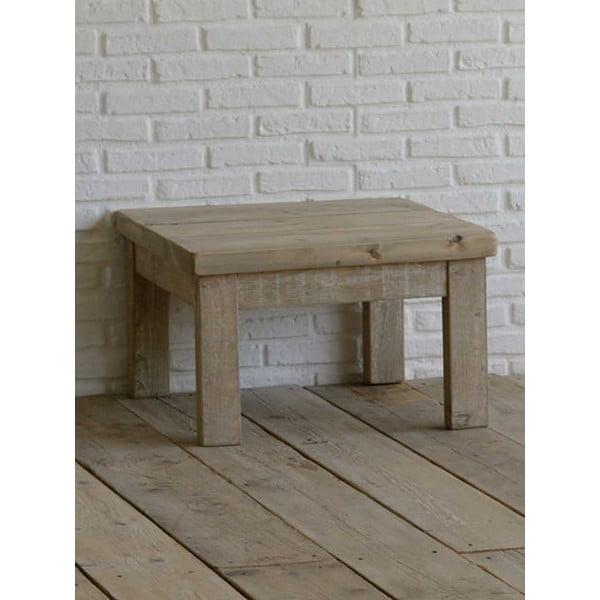 Lavice z recyklovaného dřeva Old Wood, 65x65 cm