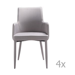 Set 4 scaune 13Casa Karl, gri