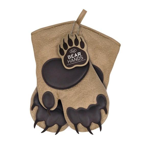 Hnědé chňapky Fred & Friends Bear Hand
