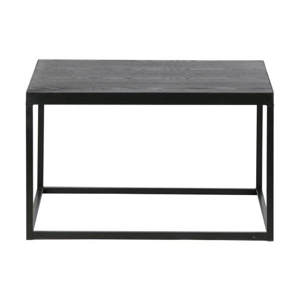Konferenční stolek s černou deskou z masivního dřeva De Eekhoorn Rio, výška38cm