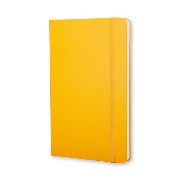 Zápisník Moleskine Hard 21x13 cm, žlutý + linkované stránky