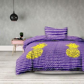 Lenjerie de pat din microfibră AmeliaHome Pineapple, 200 x 200 cm + 50 x 75 cm imagine