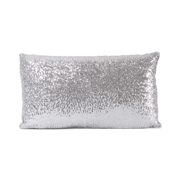 Flitrovaný polštář Shiny Grey, 33x57 cm