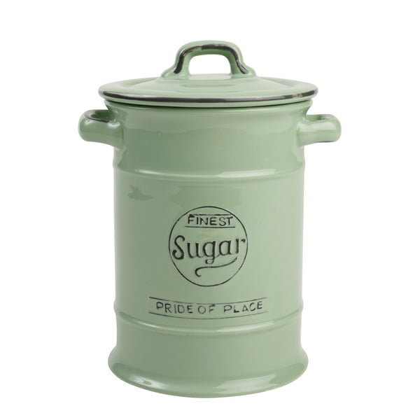 Recipient ceramic pentru zahăr T&G Woodware Pride of Place, 1,25 l, verde