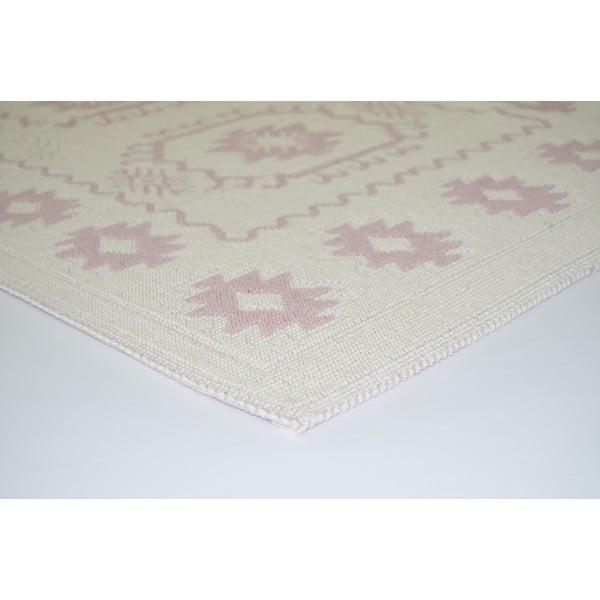 Pudrově růžový odolný koberec Vitaus Dahlia, 140x200cm