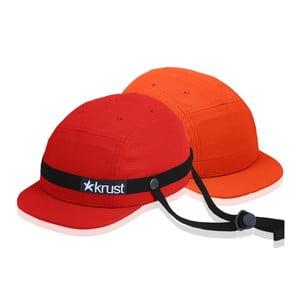 Cyklistická přilba Krust red/black/orange s náhradní čepičkou, velikost S