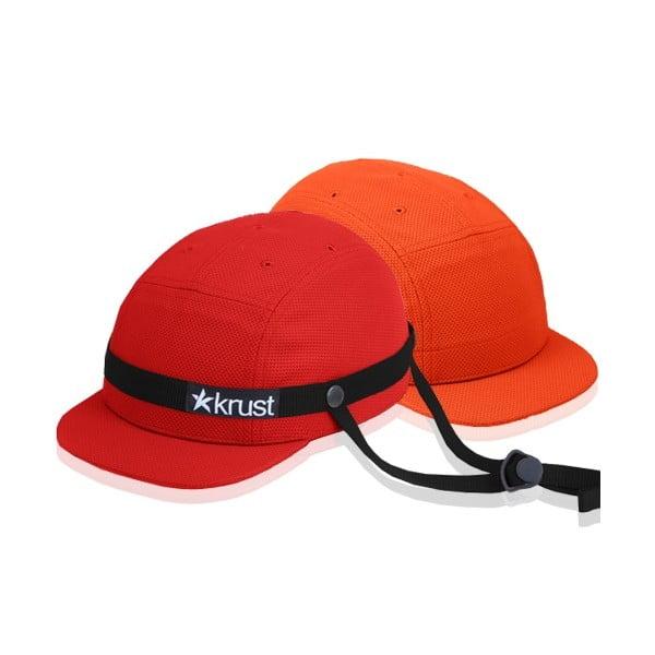 Cyklistická přilba Krust red/black/orange s náhradní čepičkou, velikost M/L