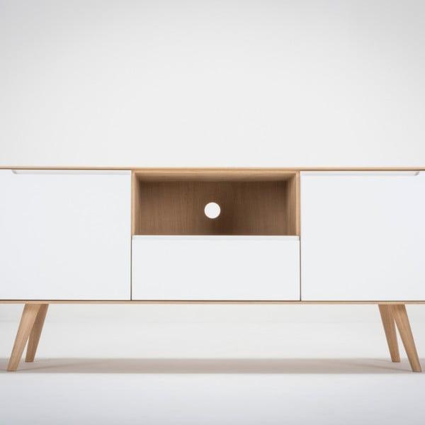 Televizní stolek z dubového dřeva Gazzda Ena Two, 160x42x60cm