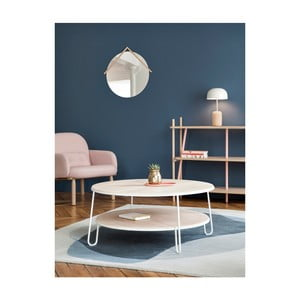 Bílý konferenční stolek HARTÔ Eugénie, ⌀ 90cm