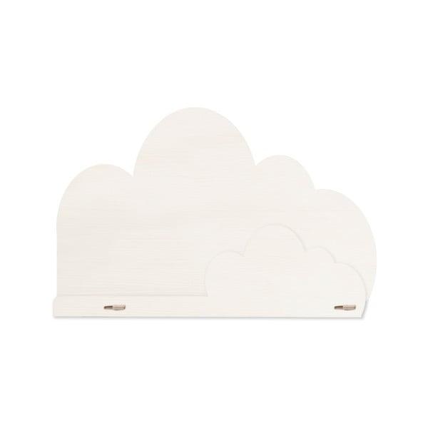 Bílá police zbřezového dřeva Little Nice Things Cloud