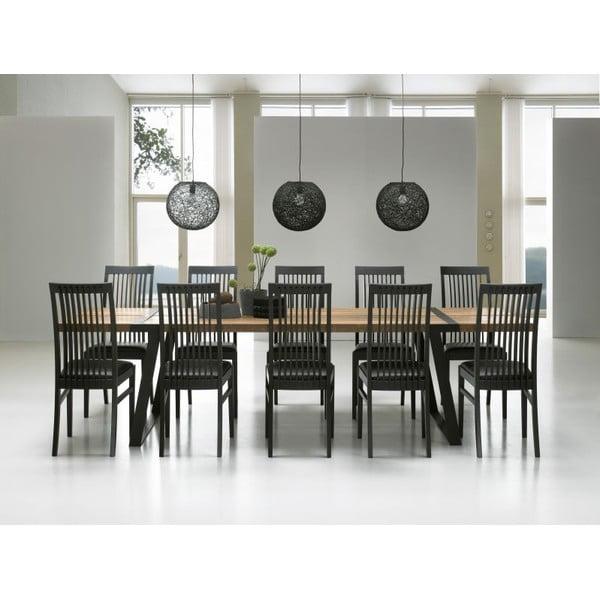 Jídelní stůl Gigant Nature/Black, 290x100x74 cm