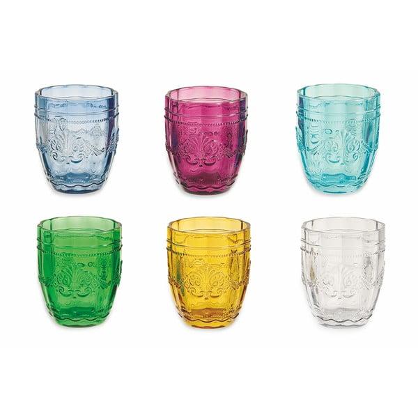 Zestaw 6 kolorowych szklanek na wodę Villa d'Este Bicchieri Syrah, 235 ml