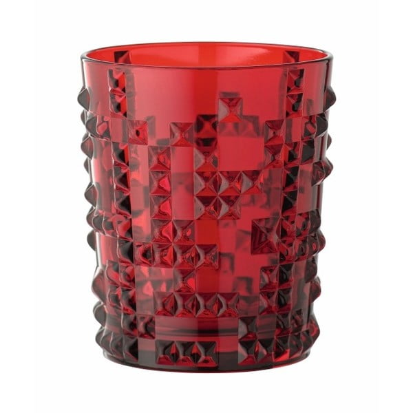 Červená sklenice z křišťálového skla Nachtmann Punk, 348ml