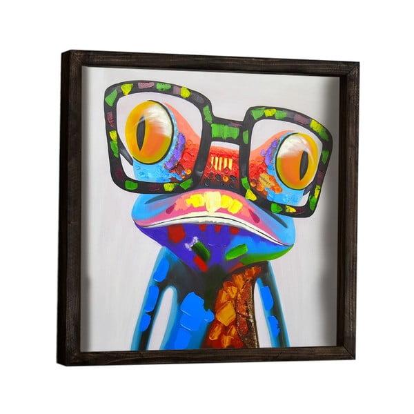Dekoratívny zarámovaný obraz Frog, 34×34 cm