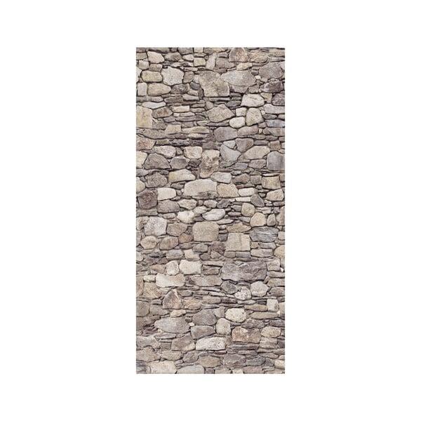 Samolepka na dveře Kamenná stěna