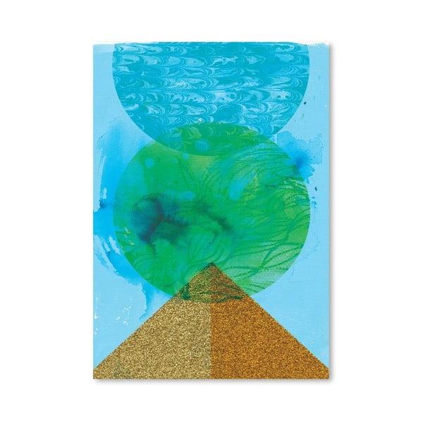 Plakát Golden Green, 30x42 cm