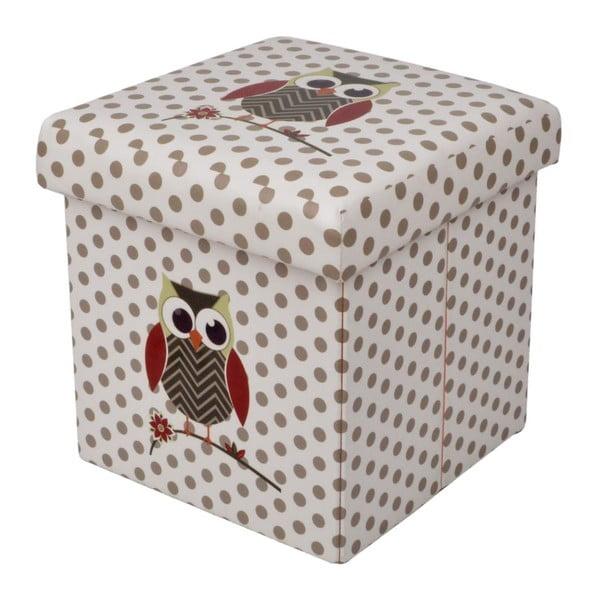 Skládací Puf Owl, 32x32 cm