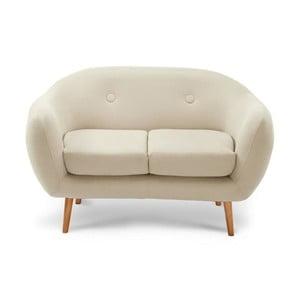 Canapea pentru 2 persoane Stella, crem