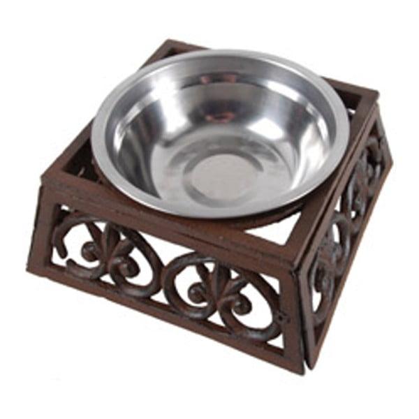 Stalowa miska dla psa z żeliwną podstawką Esschert Design, szer.17cm