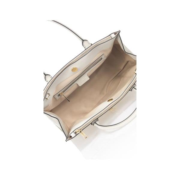 Světle šedá kožená kabelka Krole Kate