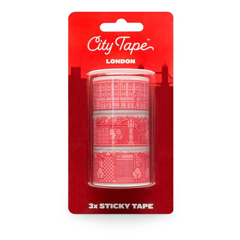 Sada 3 červených washi pásek Luckies of London London