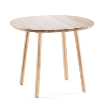 Masă dining din lemn masiv EMKO Naïve, ø 90 cm, natural de la EMKO