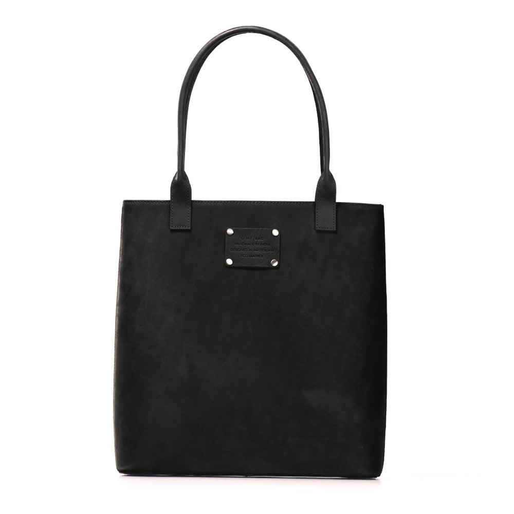 Černá kožená kabelka O My Bag Posh Stacey midi