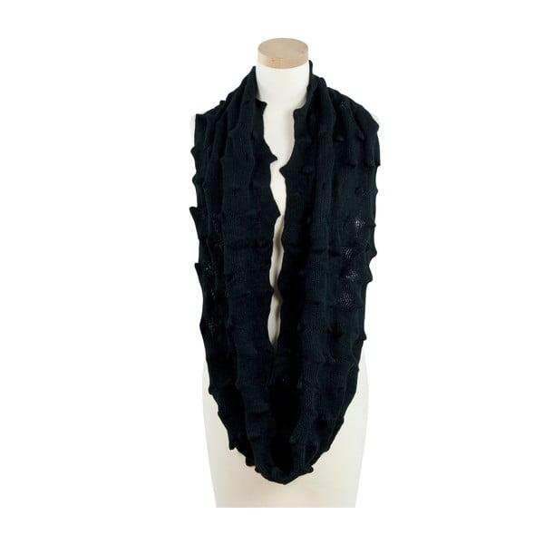 Fular circular de damă Art of Polo Tamara, negru