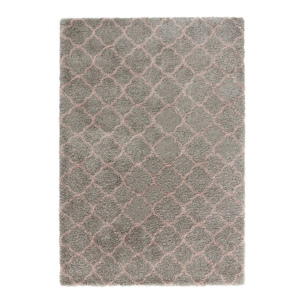 Covor Mint Rugs Grace Grey Rose, 80 x 150 cm, gri