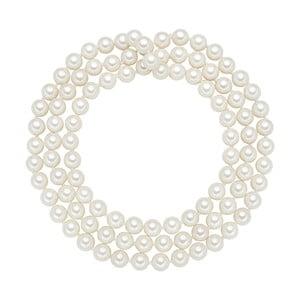 Lănțișor cu perle albe  ⌀ 8 mm Perldesse Muschel, lungime 90 cm