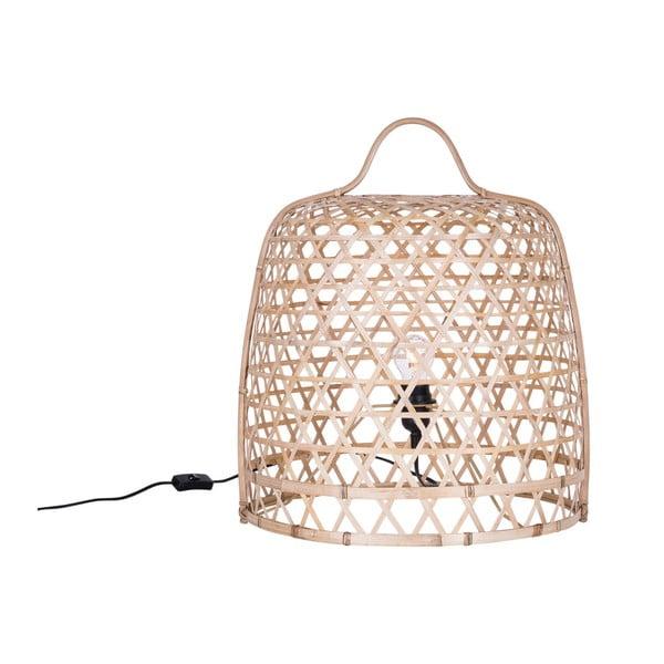 Světlá stojací bambusová lampa Canett Octavio, ⌀45cm