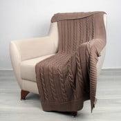 Hnědý bavlněný přehoz Homemania Ciana, 130 x 170 cm