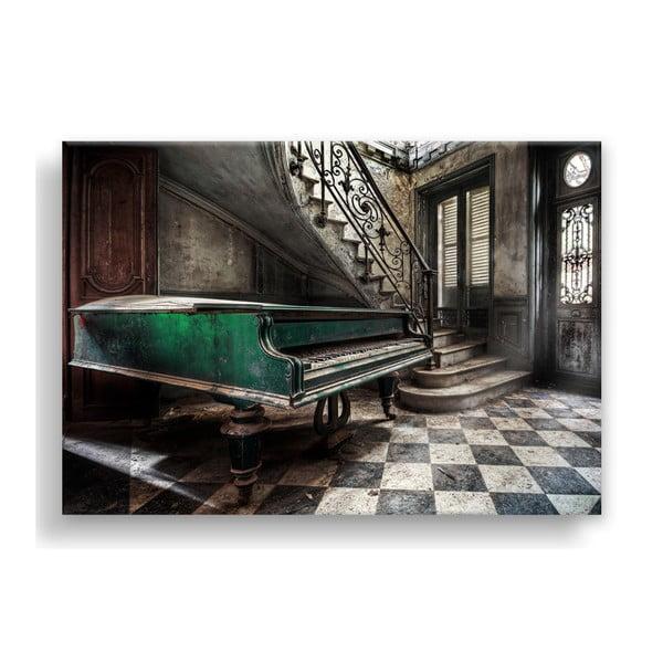 Canvas Silver Uno Piano kép, 85 x 113 cm - Styler