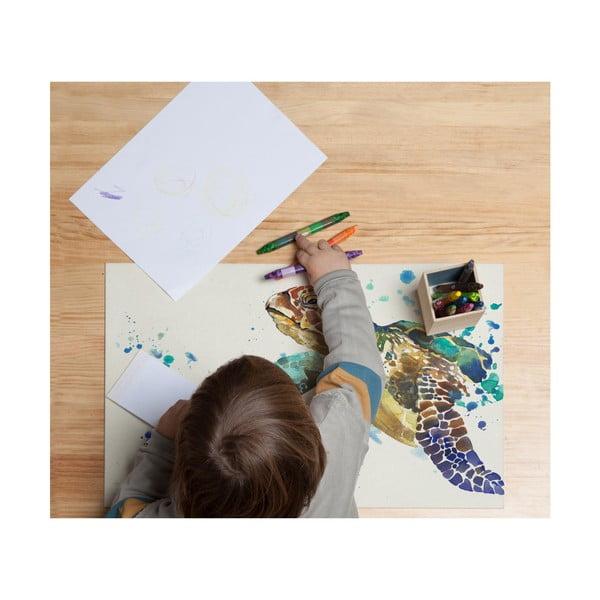 Podložka na stůl Little Nice Things Turtle, 55 x 35 cm