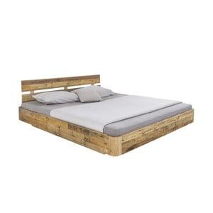 Dvoulůžková postel z borovicového dřeva Woodking Darryl,180x200cm