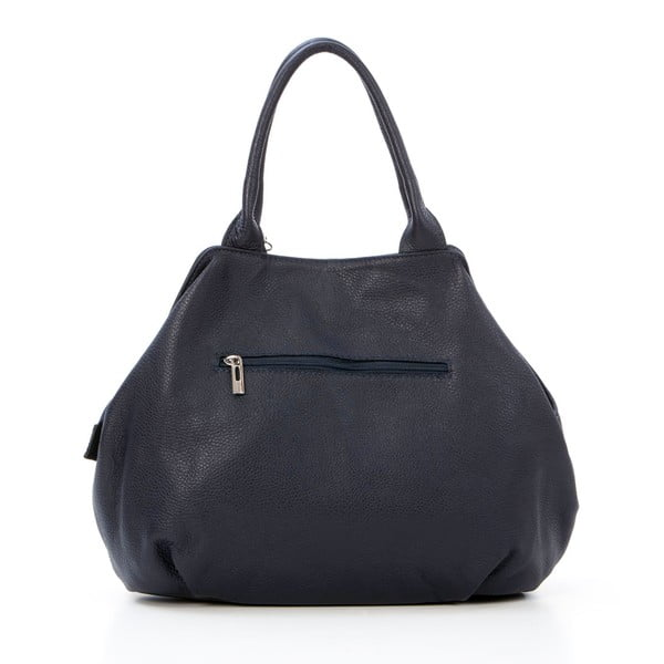 Kožená kabelka Pietro, tmavě modrá