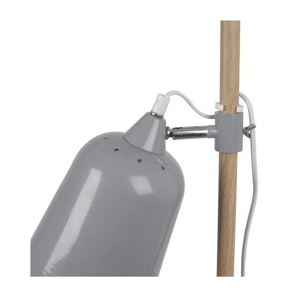 Šedá stolní lampa  Leitmotiv  Wood