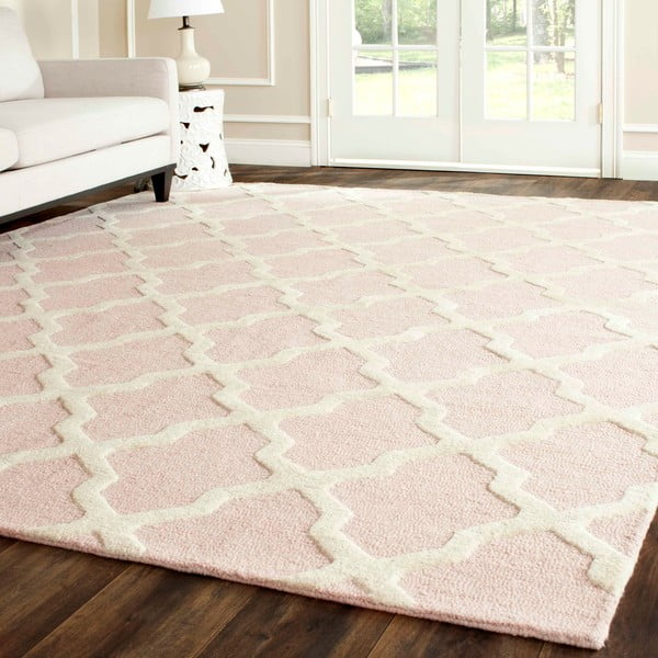 Vlněný koberec Ava Baby Pink, 76x243 cm