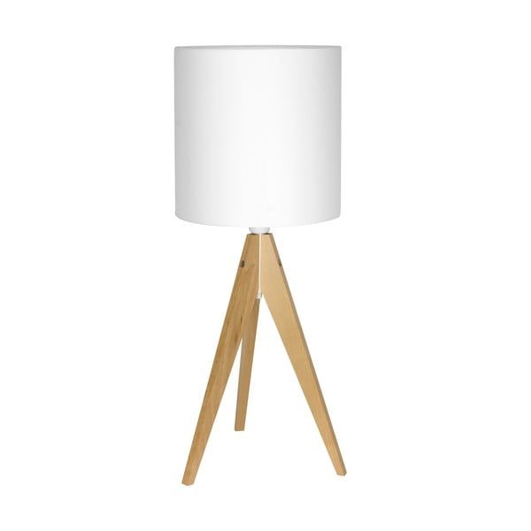 Stolní lampa Artist White/Birch, 40x25 cm