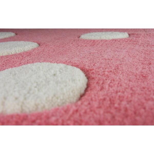 Covor pentru copii Nattiot Domino, 60 x 120 cm, roz