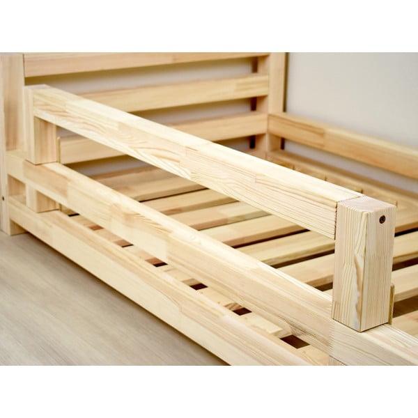 Bočnice z lakovaného smrkového dřeva k posteli Benlemi Safety,délka90cm
