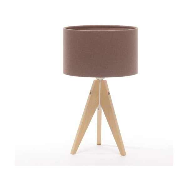 Stolní lampa Arist Cylinder Dark Taupe/Natural