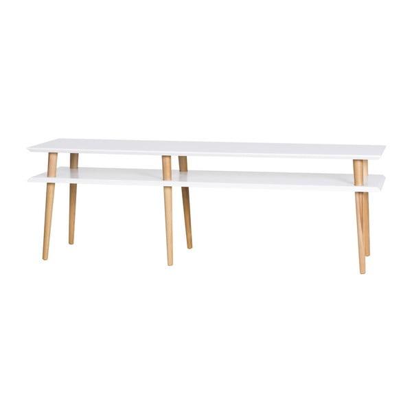 Mungo fehér dohányzóasztal, hossza 159 cm - Ragaba