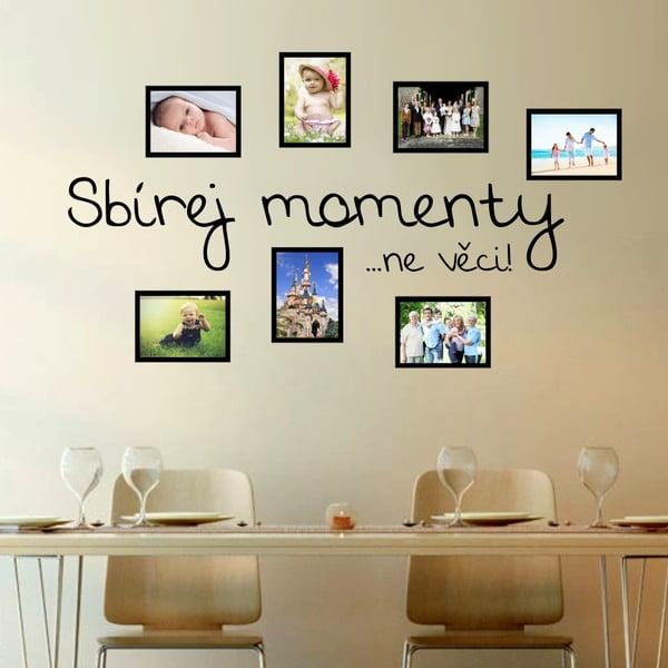 Samolepka na stěnu Wallvinil Sbírka momentů s fotorámečky